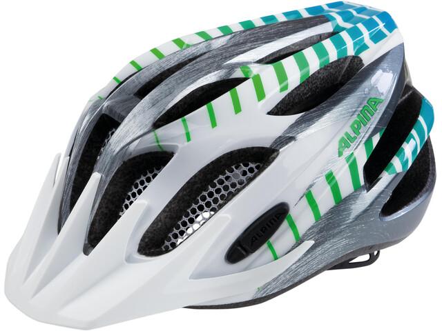 Alpina FB 2.0 Flash Helmet Junior white-steelgrey-gradient